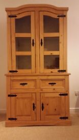 Pine Corona display unit cabinet