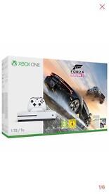 X Box One S 1TB console with Forza horizon 3 bundle