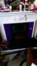 Electric realistic flame fireplace
