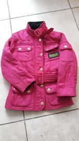 Barbour girls quilted jacket xxs age 2/3 generous fit