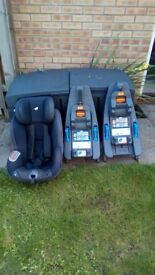 Joie iso fix car seat, 2 bases, non smoking household. Good condition