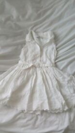 White sleeveless frilly dress from m&s