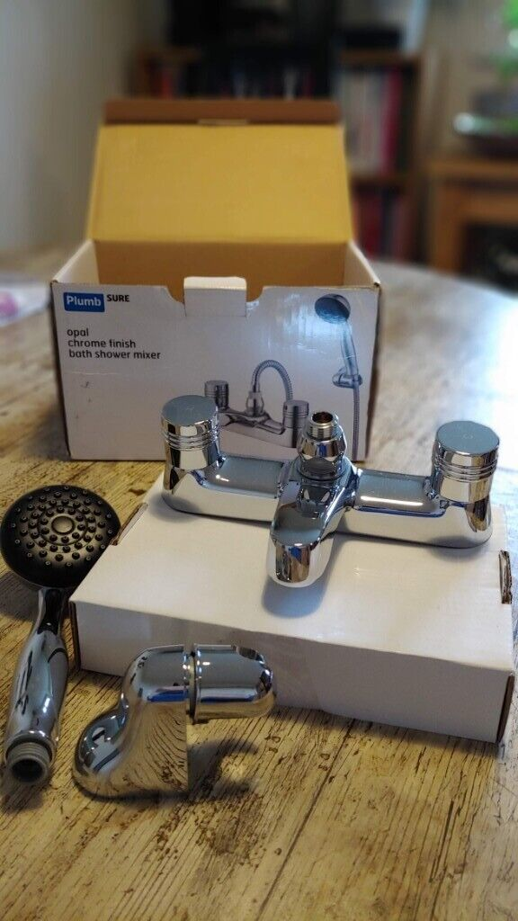Chrome shower mixer with accessories, B&Q Plumbsure | in ...