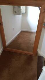 Large pine mirror width 34 inch length 46 inch