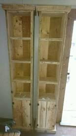 Reclaimed shelf units