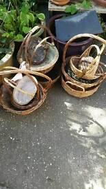 11 wicker baskets