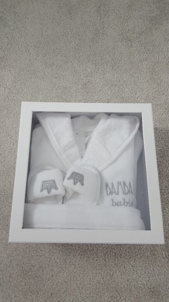 Bam bam white dressing gown & slipper gift set | in Liverpool ...