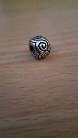 Genuine / Authentic Swirl Pandora Charm - GREAT CHRISTMAS GIFT IDEA