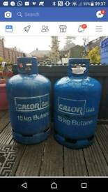 Gas containers.