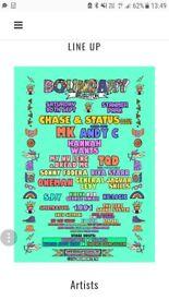 Boundry brighton festival tickets x2