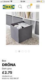 Kallax Dark Grey Charcoal Drona Boxes Ikea Storage