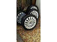 4x 17inch alloy wheels and tyres