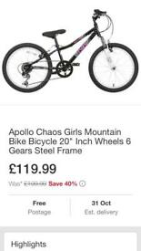 Apollo chaos girls bike