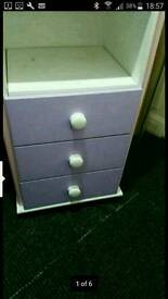 Girls wardrobe and chest of drawers