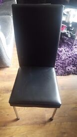Black Glass Dining Table & Four Chairs £70
