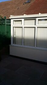 UPVC conservatory complete with fitted vertical blinds £600