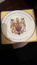 Commemorative plate Charles and diana