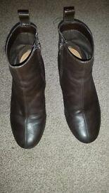 Clarks- Dark Brown women boots- size 4