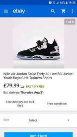 Bnib nike Jordan's juniors size 5.5uk