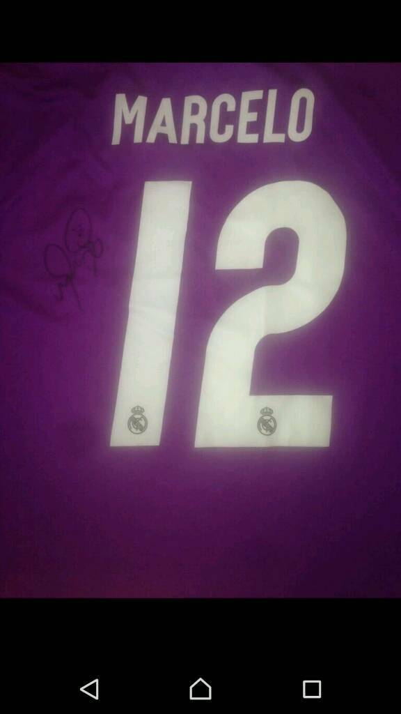 f6d15df9dfb941 Marcelo Signed Real Madrid Shirt 16 17 With Coa In Johnstone