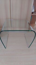 Glass Coffee Table for Sale. It is used but in good condition (Dimensions in cm: 60w x 50d x 41h)