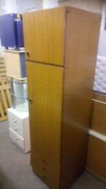 Slim teak wardrobe £25, good condition.CHEAP local DELIVERY SK15 3DN.