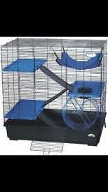 Large pet cage as new condition, 3' X 2' X 2' as pictured but Maroon base £85 new (Pets At Home)