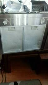 Oven and cooker hood also electri