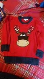 Blue zoo Christmas jumper age 3-4