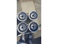 4 Rial Mesh Wheels 4x100 13 inch 6J Rare VW polo golf