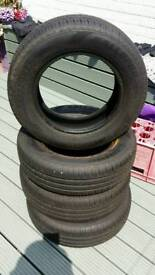 4 new budget tyres 165/70 R 13
