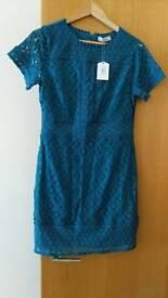 Oasis green/torquoise dress medium