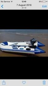 Rib style boat.tender with Yamaha outboard 2.5hp