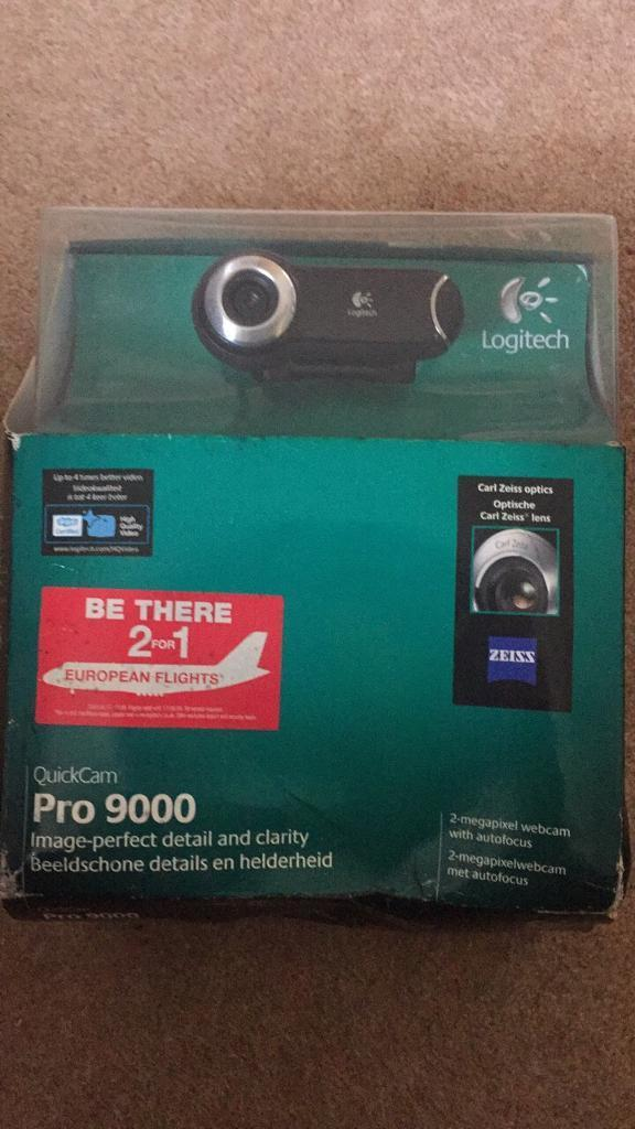 Quickcam pro 9000 boxed never used.