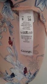 Ladies George floral printed blouse - size 8