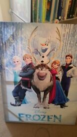 Frozen mounted poster