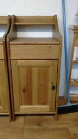 IKEA Pine Bedside Cabinets