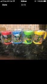 Brand-new pack of four children's character mugs