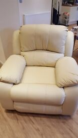 NEW ELECTRIC REAL LEATHER RECLINER