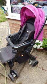Joie pink pushchair