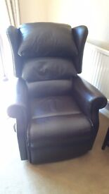 Sherbourne electric riser/ recliner leather armchair