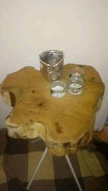 Charming wood table - natural & organic -one of a kind