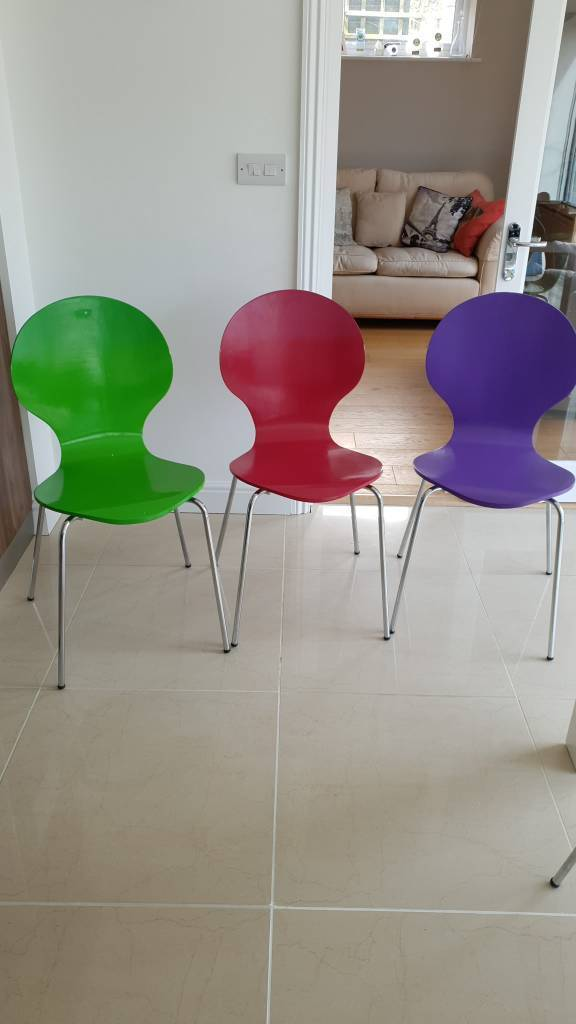 super popular fc41d f6c3d Set of 6 multi-coloured dining chairs | in Witney, Oxfordshire | Gumtree
