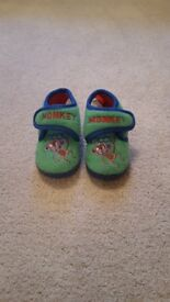 Cheeky monkey slippers - toddler size 4