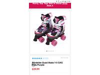 Girls Roller Skates size UK 1-3 / Blindside Quad Skate Pink/Purple