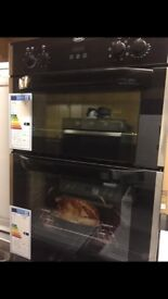 Belling Black Built in Double Electric Oven New and Unused