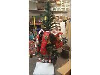 6ft Christmas tree, led lights and bits