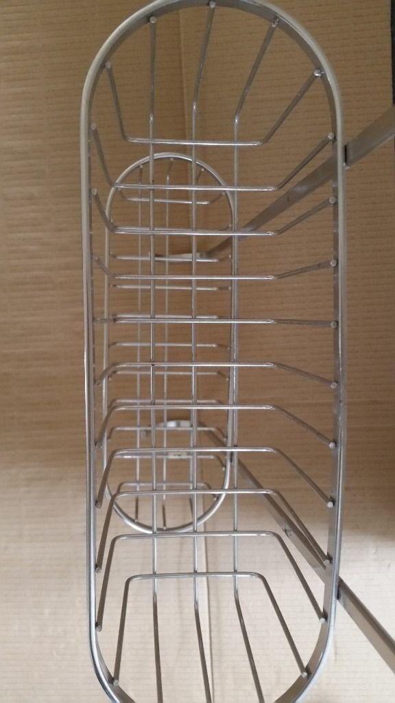 Bath / Shower Caddie - Chrome, Hanging Hook Over Bath Organiser - almost new