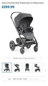 Joie Chrome DLX Pushchair in Pavement (grey)