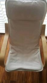 Kids Ikea chair washable cover and extra padding at head